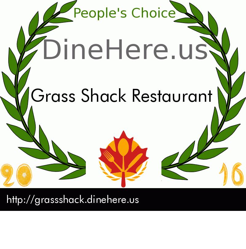 Grass Shack Restaurant DineHere.us 2016 Award Winner